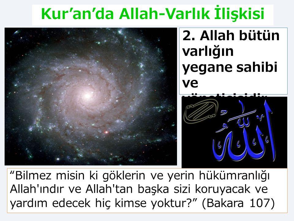 Kur'an'da Allah-Varlık İlişkisi