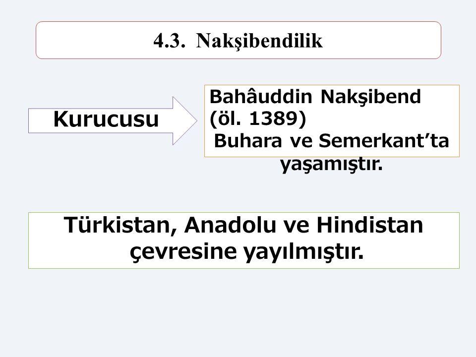 Türkistan, Anadolu ve Hindistan çevresine yayılmıştır.