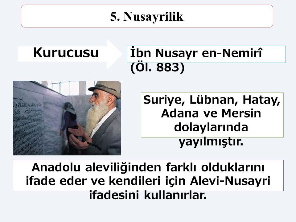Suriye, Lübnan, Hatay, Adana ve Mersin dolaylarında yayılmıştır.