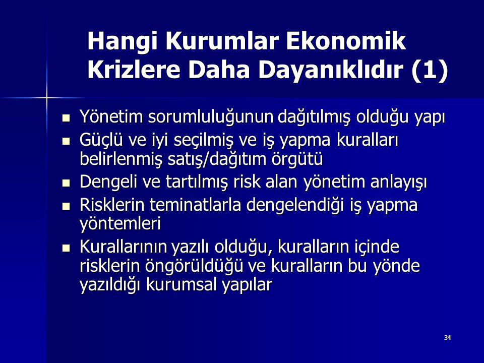 Hangi Kurumlar Ekonomik Krizlere Daha Dayanıklıdır (1)