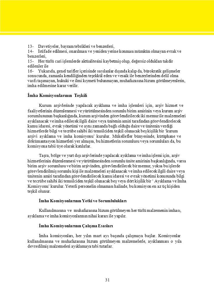 İmha Komisyonlarının Teşkili