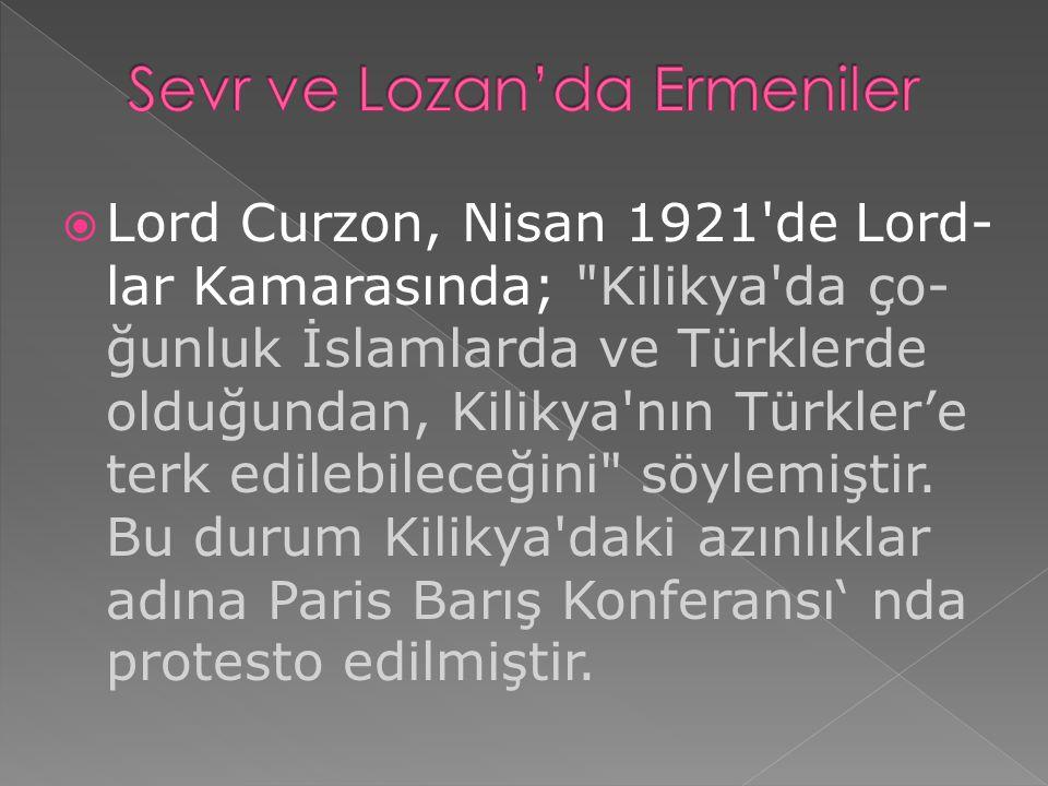Sevr ve Lozan'da Ermeniler