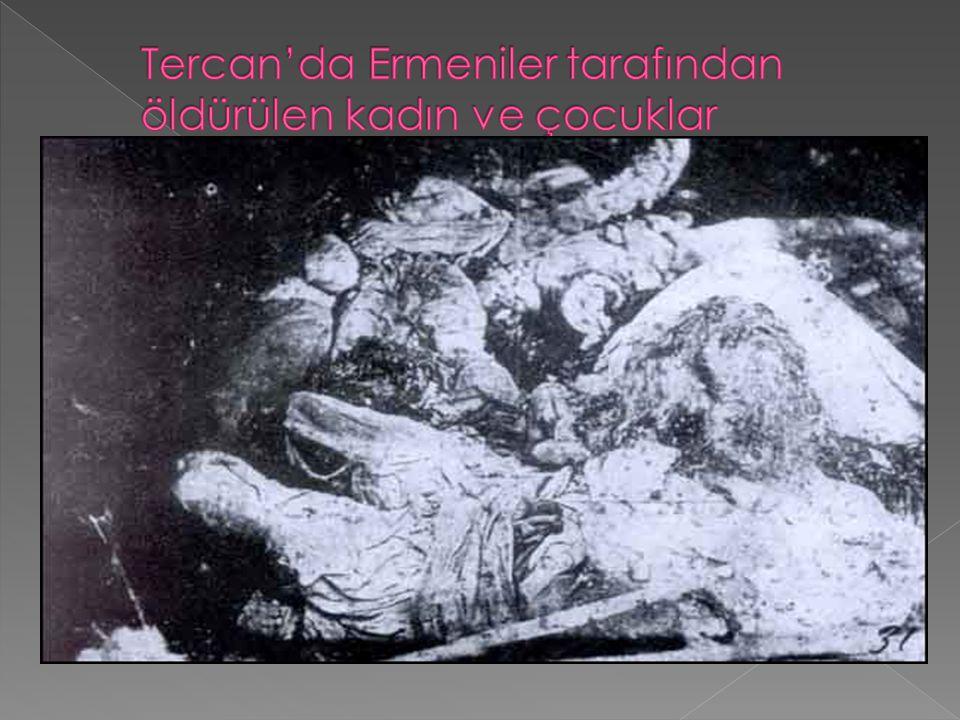 Tercan'da Ermeniler tarafından öldürülen kadın ve çocuklar