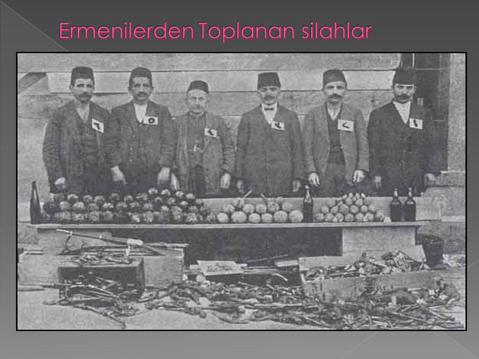 Ermenilerden Toplanan silahlar