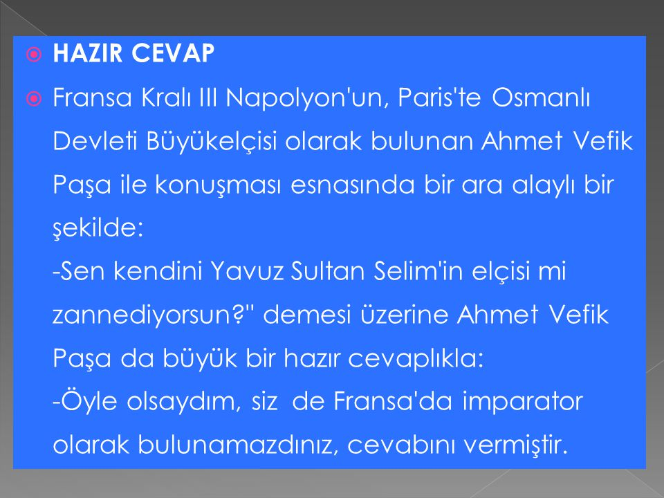 HAZIR CEVAP