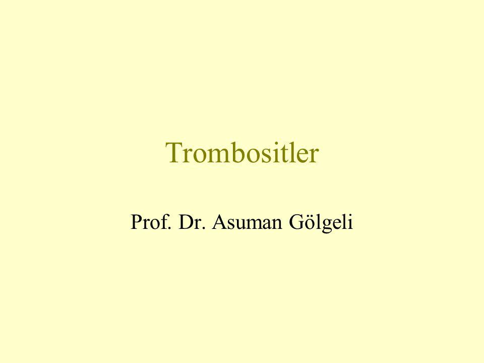 Trombositler Prof. Dr. Asuman Gölgeli
