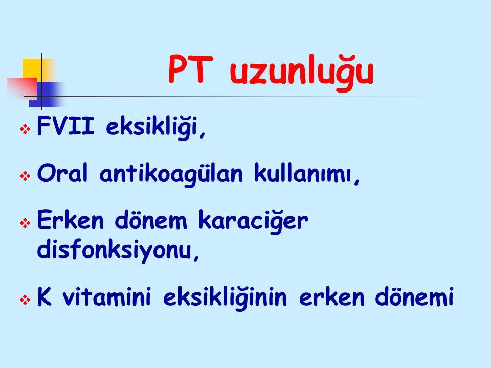 PT uzunluğu FVII eksikliği, Oral antikoagülan kullanımı,