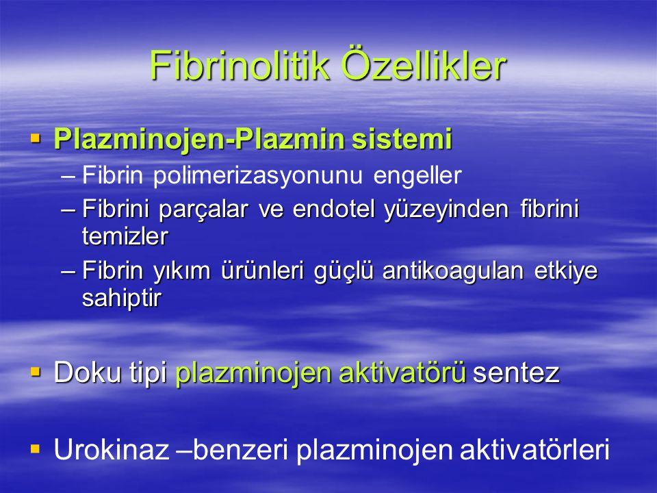 Fibrinolitik Özellikler