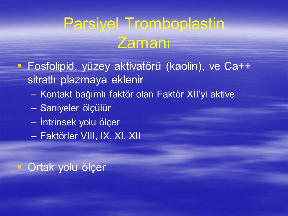 Parsiyel Tromboplastin Zamanı