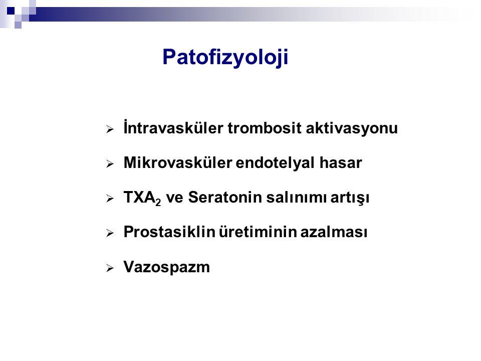 Patofizyoloji İntravasküler trombosit aktivasyonu