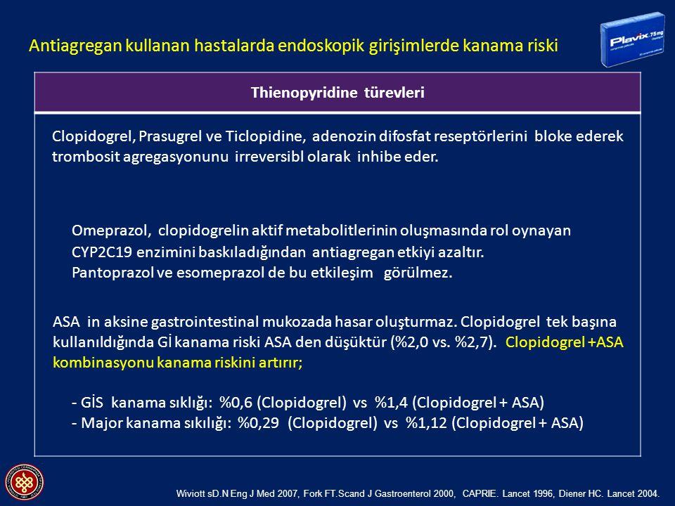 Antiagregan kullanan hastalarda endoskopik girişimlerde kanama riski