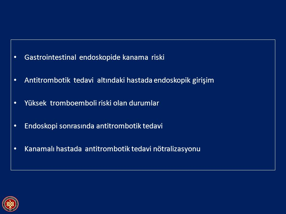 Gastrointestinal endoskopide kanama riski
