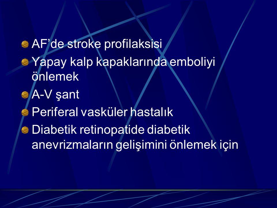 AF'de stroke profilaksisi