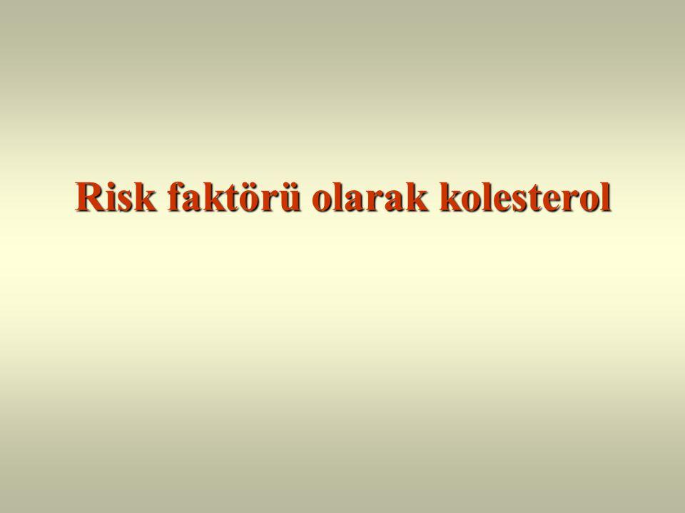 Risk faktörü olarak kolesterol
