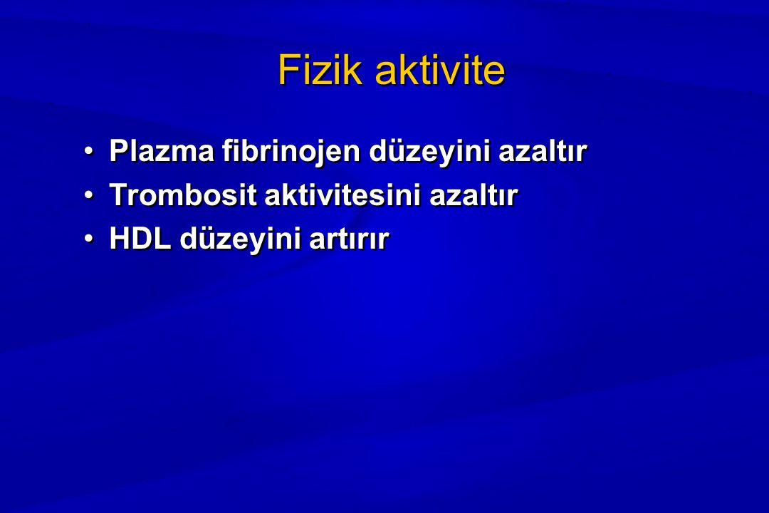 Fizik aktivite Plazma fibrinojen düzeyini azaltır