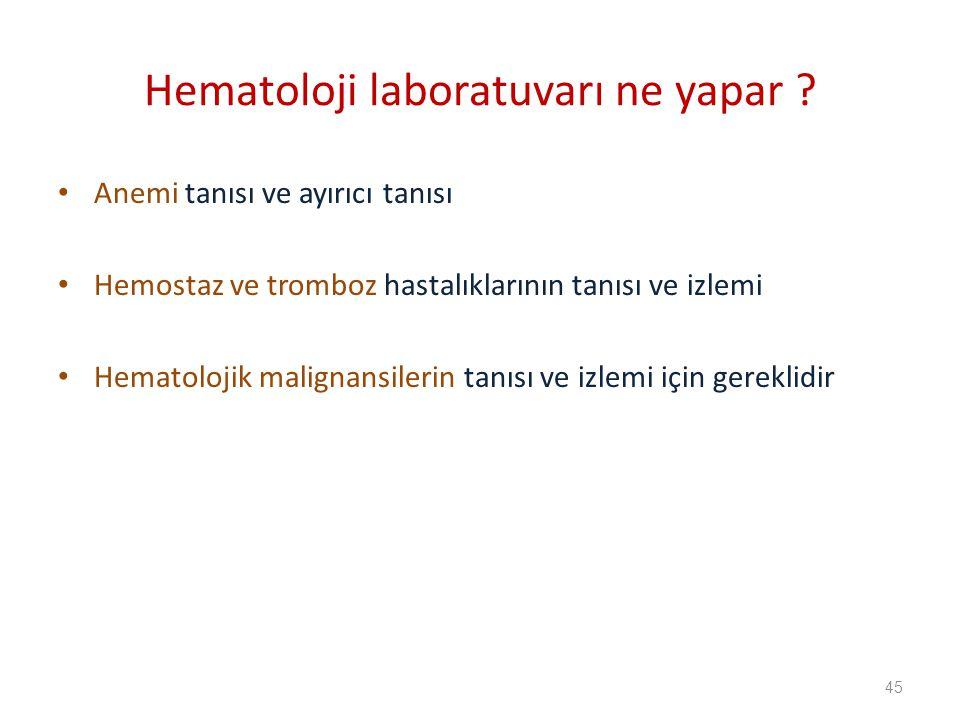 Hematoloji laboratuvarı ne yapar