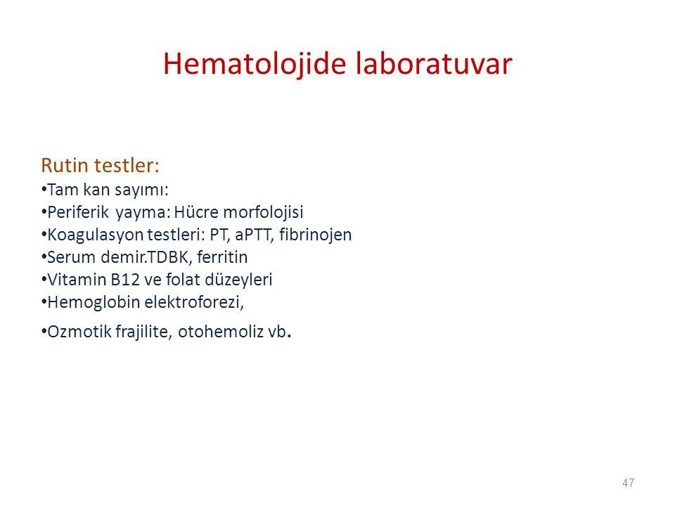 Hematolojide laboratuvar