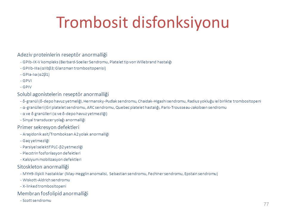 Trombosit disfonksiyonu