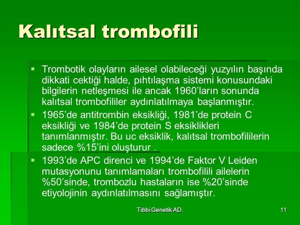 Kalıtsal trombofili