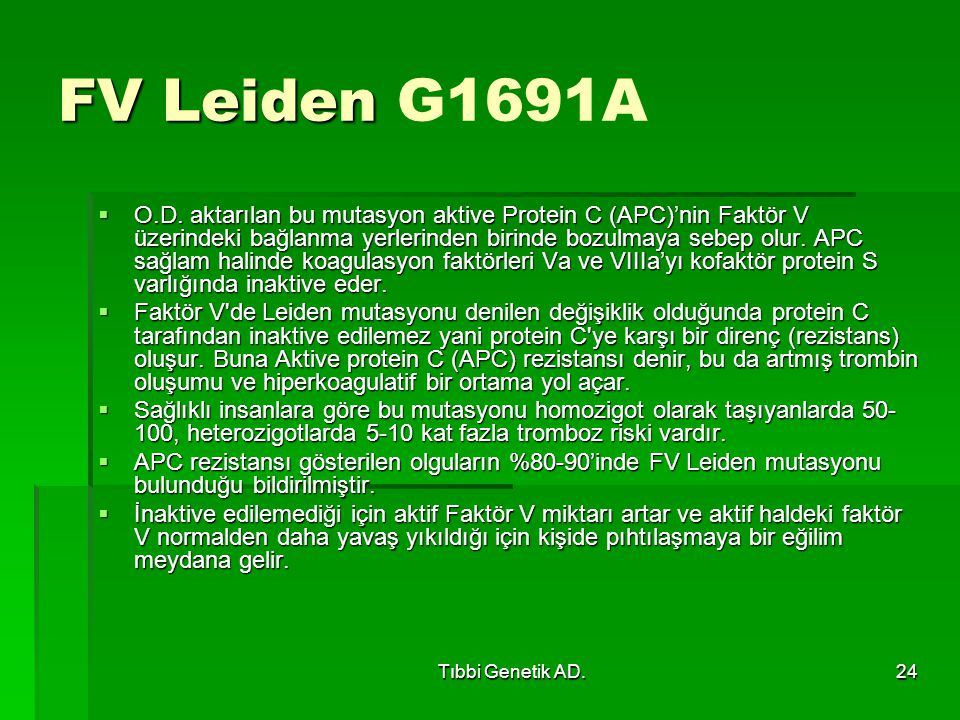 FV Leiden G1691A