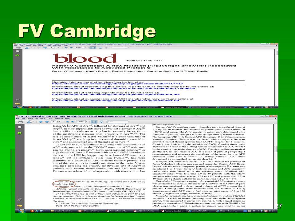 FV Cambridge Tıbbi Genetik AD.