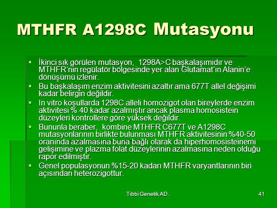 MTHFR A1298C Mutasyonu
