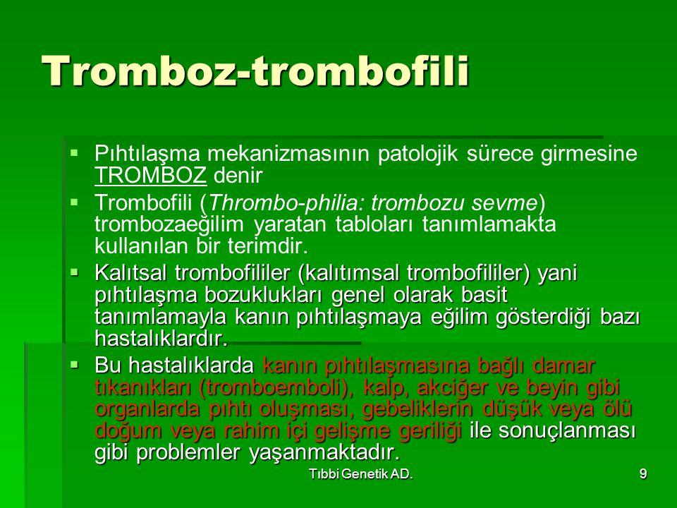 Tromboz-trombofili Pıhtılaşma mekanizmasının patolojik sürece girmesine TROMBOZ denir.