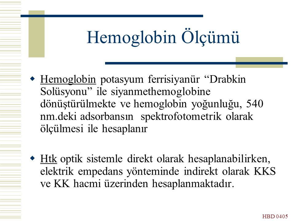 Hemoglobin Ölçümü