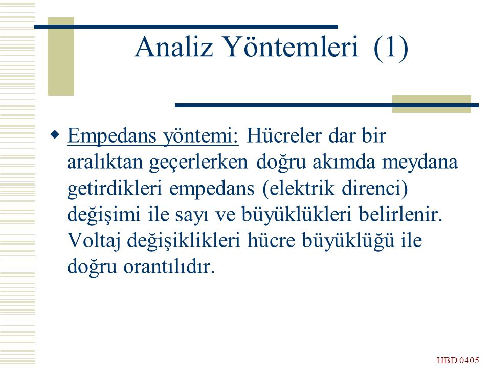 Analiz Yöntemleri (1)