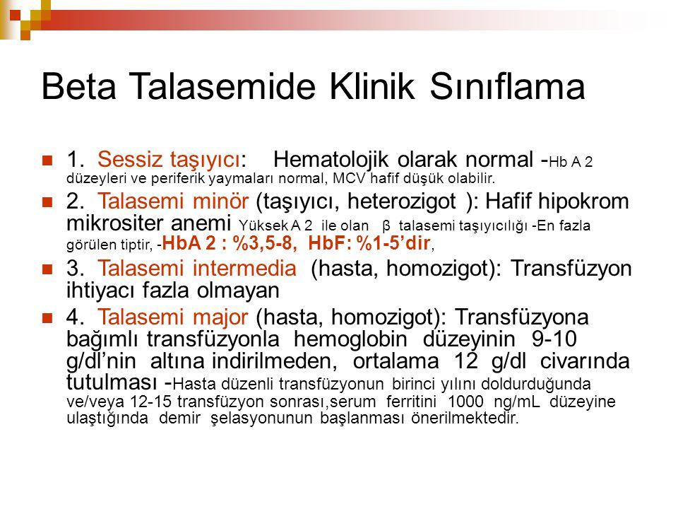 Beta Talasemide Klinik Sınıflama