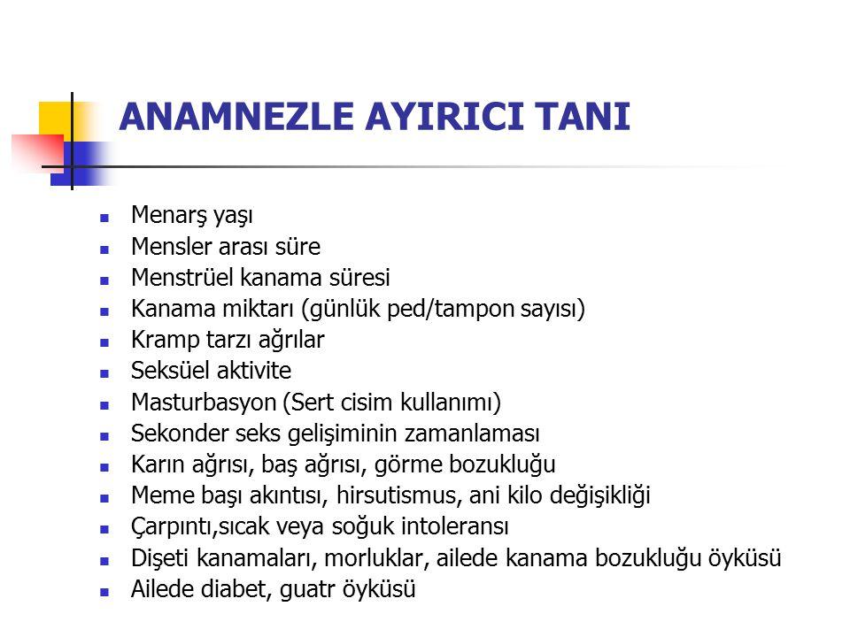 ANAMNEZLE AYIRICI TANI