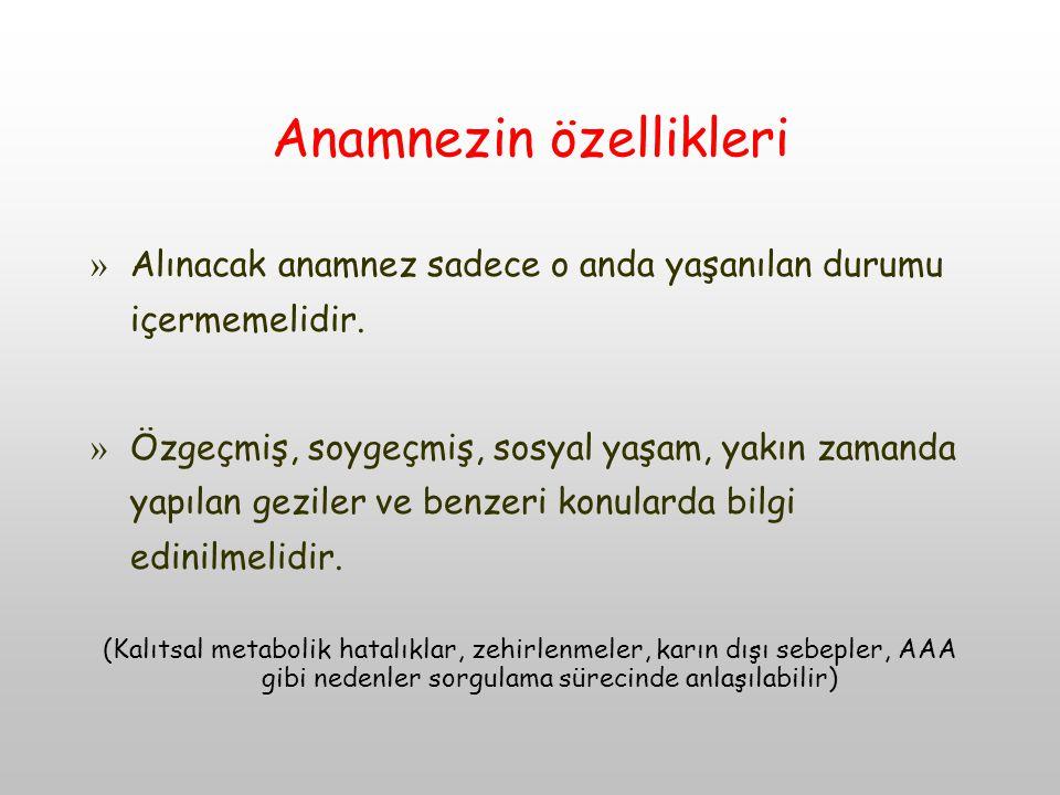 Anamnezin özellikleri
