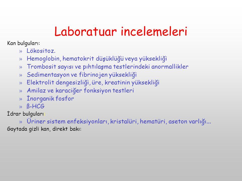 Laboratuar incelemeleri