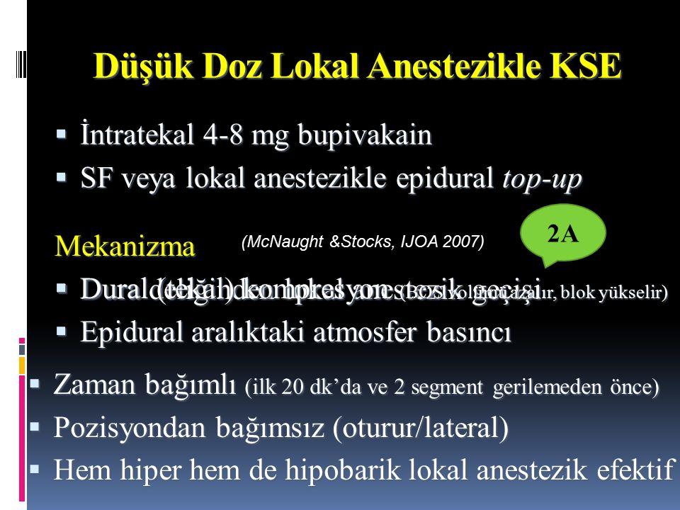 Düşük Doz Lokal Anestezikle KSE