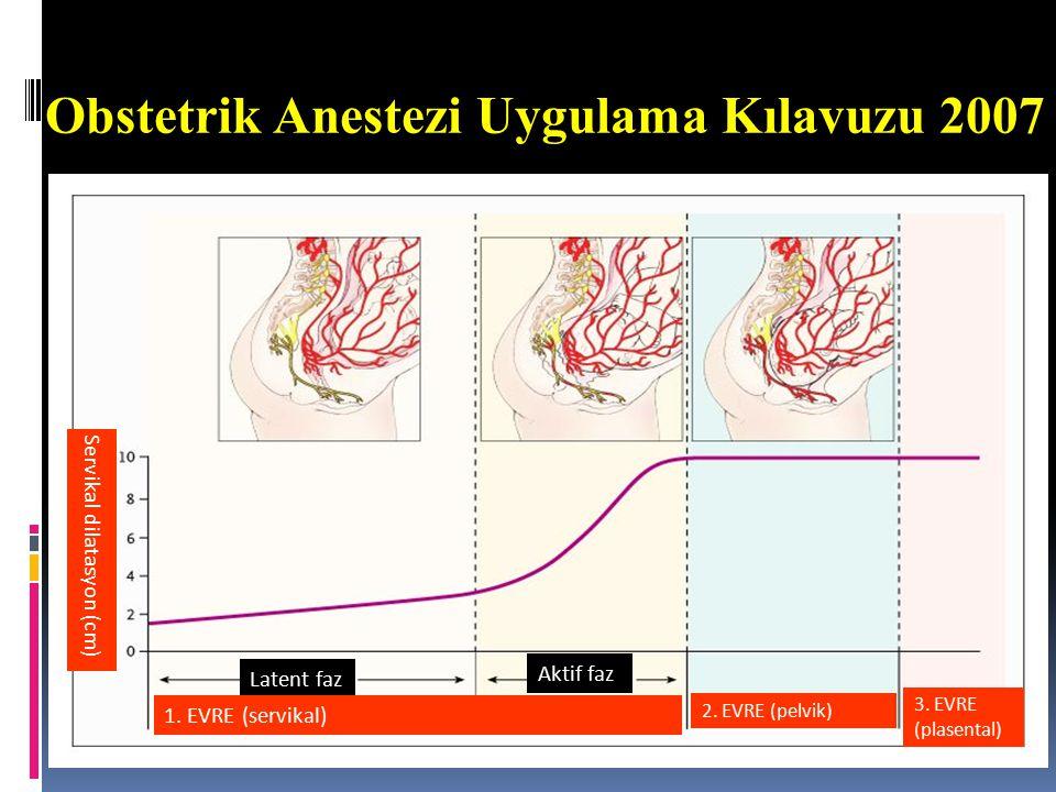 Obstetrik Anestezi Uygulama Kılavuzu 2007