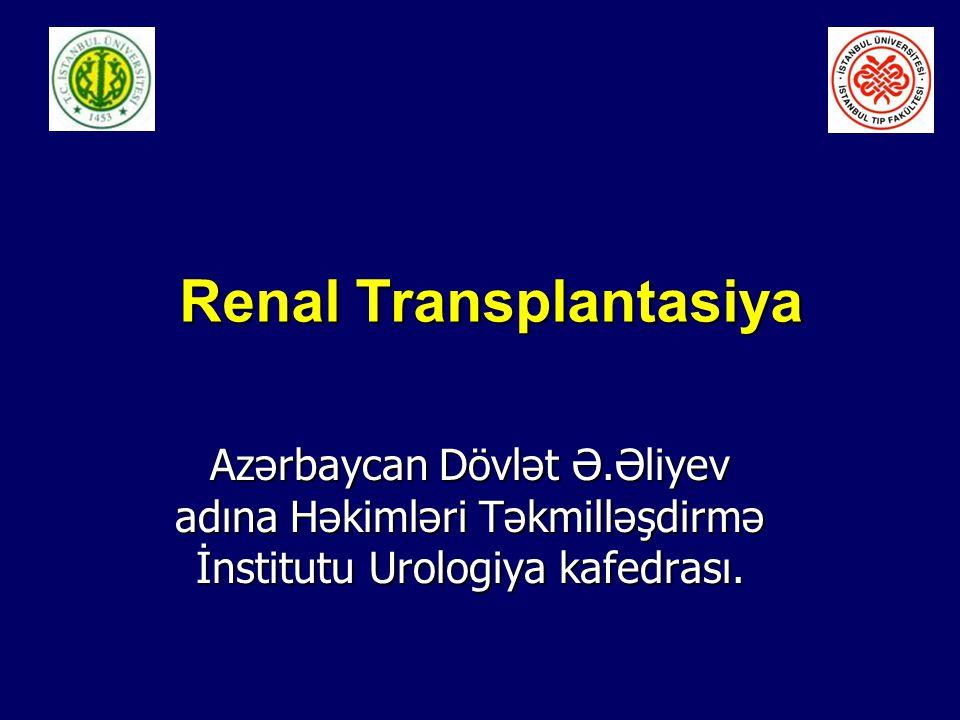 Renal Transplantasiya