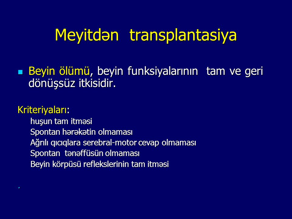 Meyitdən transplantasiya