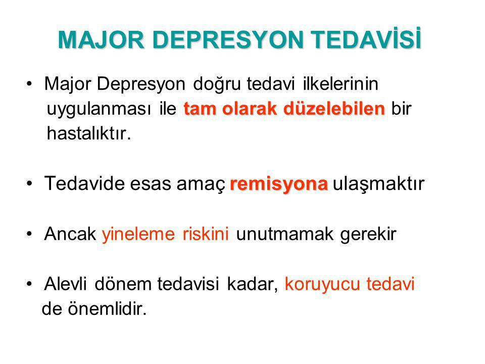 MAJOR DEPRESYON TEDAVİSİ