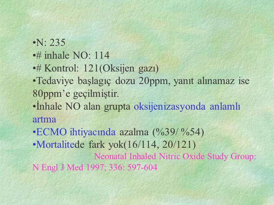 # Kontrol: 121(Oksijen gazı)