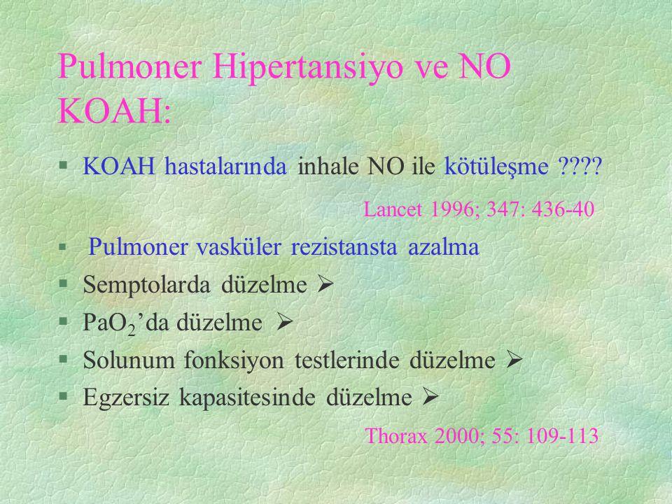 Pulmoner Hipertansiyo ve NO KOAH:
