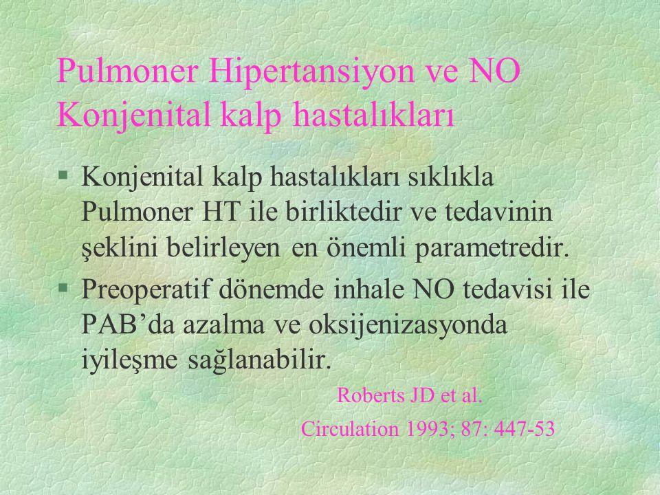 Pulmoner Hipertansiyon ve NO Konjenital kalp hastalıkları