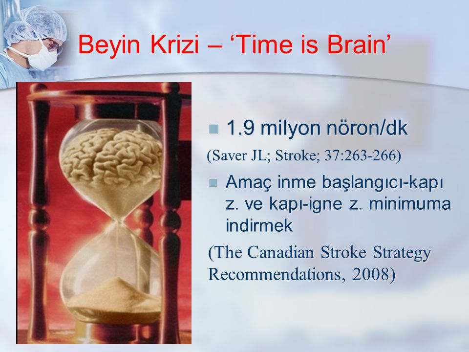 Beyin Krizi – 'Time is Brain'