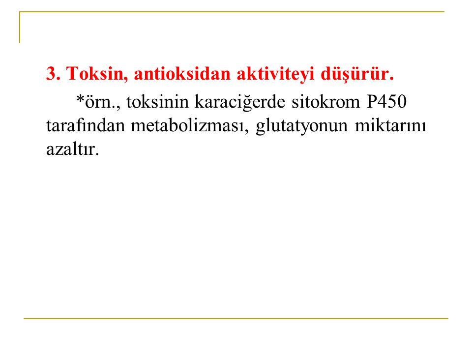 3. Toksin, antioksidan aktiviteyi düşürür.