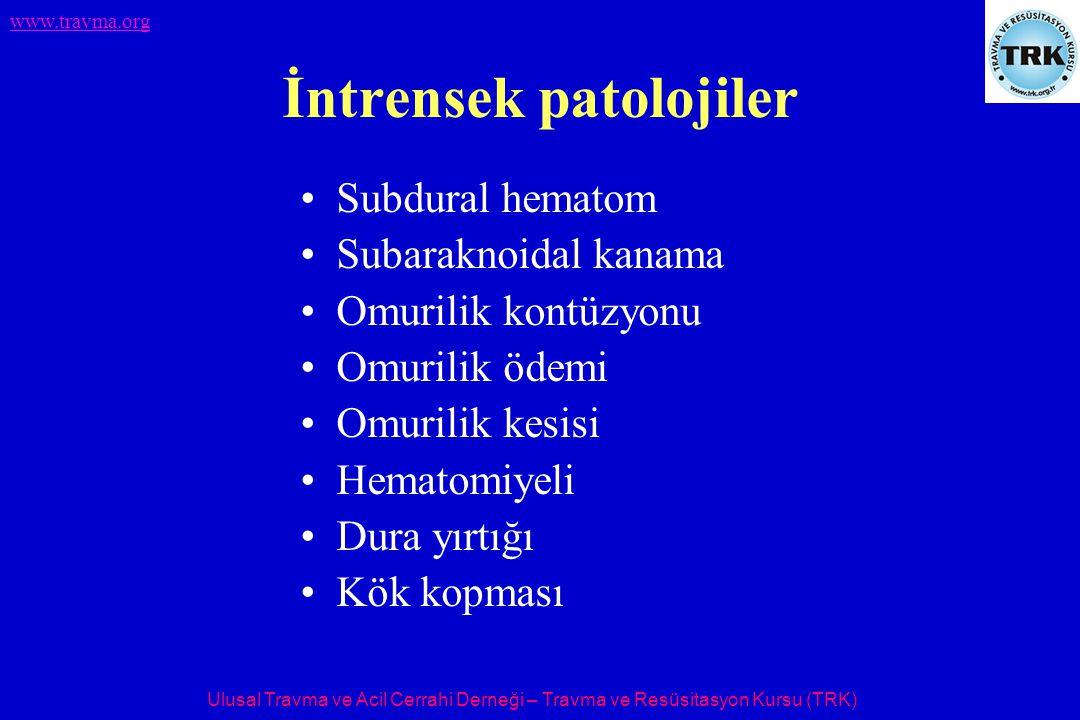 İntrensek patolojiler