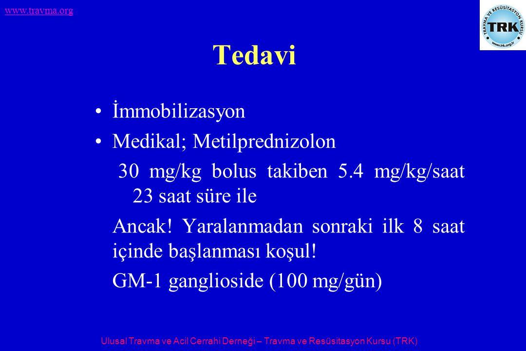 Tedavi İmmobilizasyon Medikal; Metilprednizolon