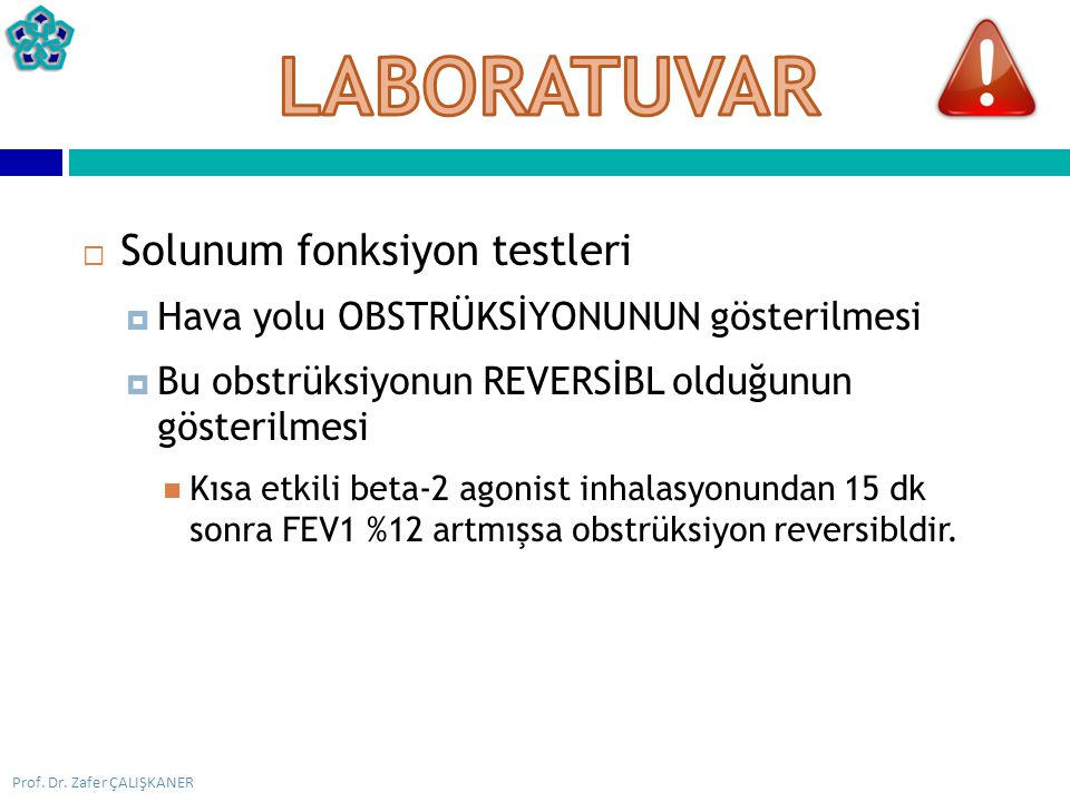 LABORATUVAR Solunum fonksiyon testleri