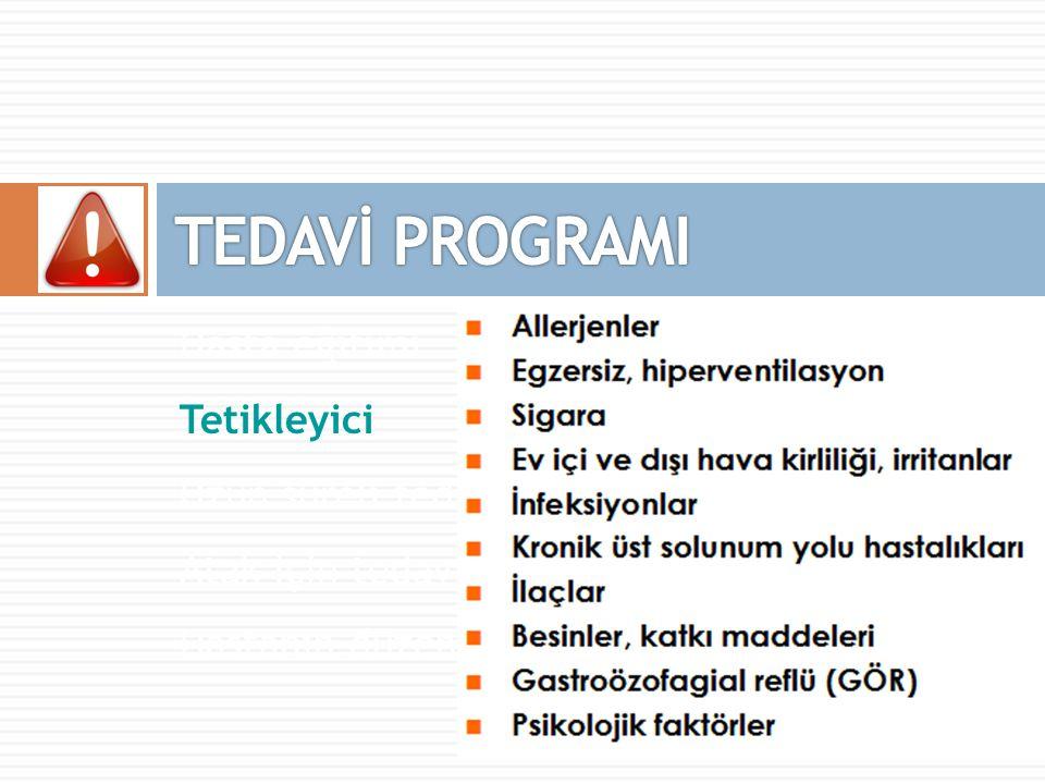 TEDAVİ PROGRAMI Hasta eğitimi Tetikleyici