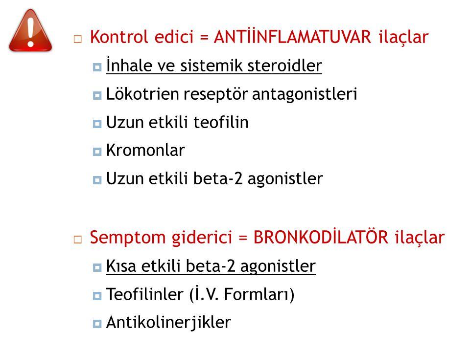 Kontrol edici = ANTİİNFLAMATUVAR ilaçlar