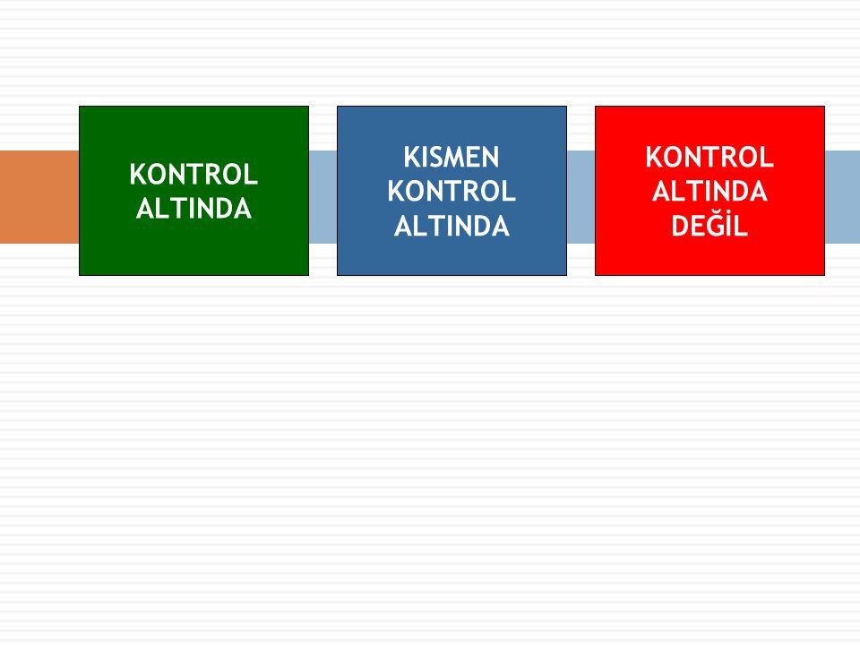 KONTROL ALTINDA KISMEN KONTROL ALTINDA KONTROL ALTINDA DEĞİL