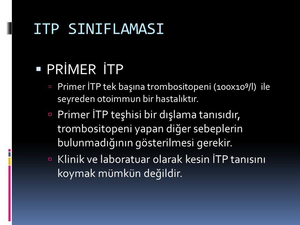 ITP SINIFLAMASI PRİMER İTP